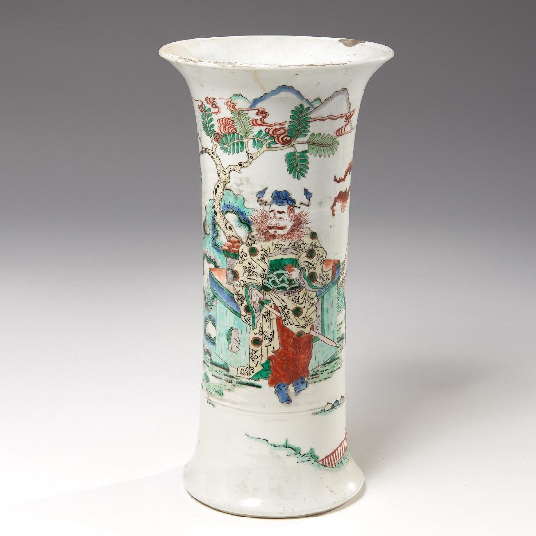 Chinese famille rose porcelain Gu vase - 2