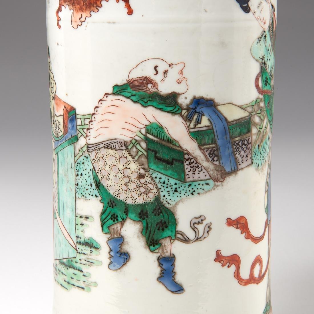 Chinese famille rose porcelain Gu vase - 4