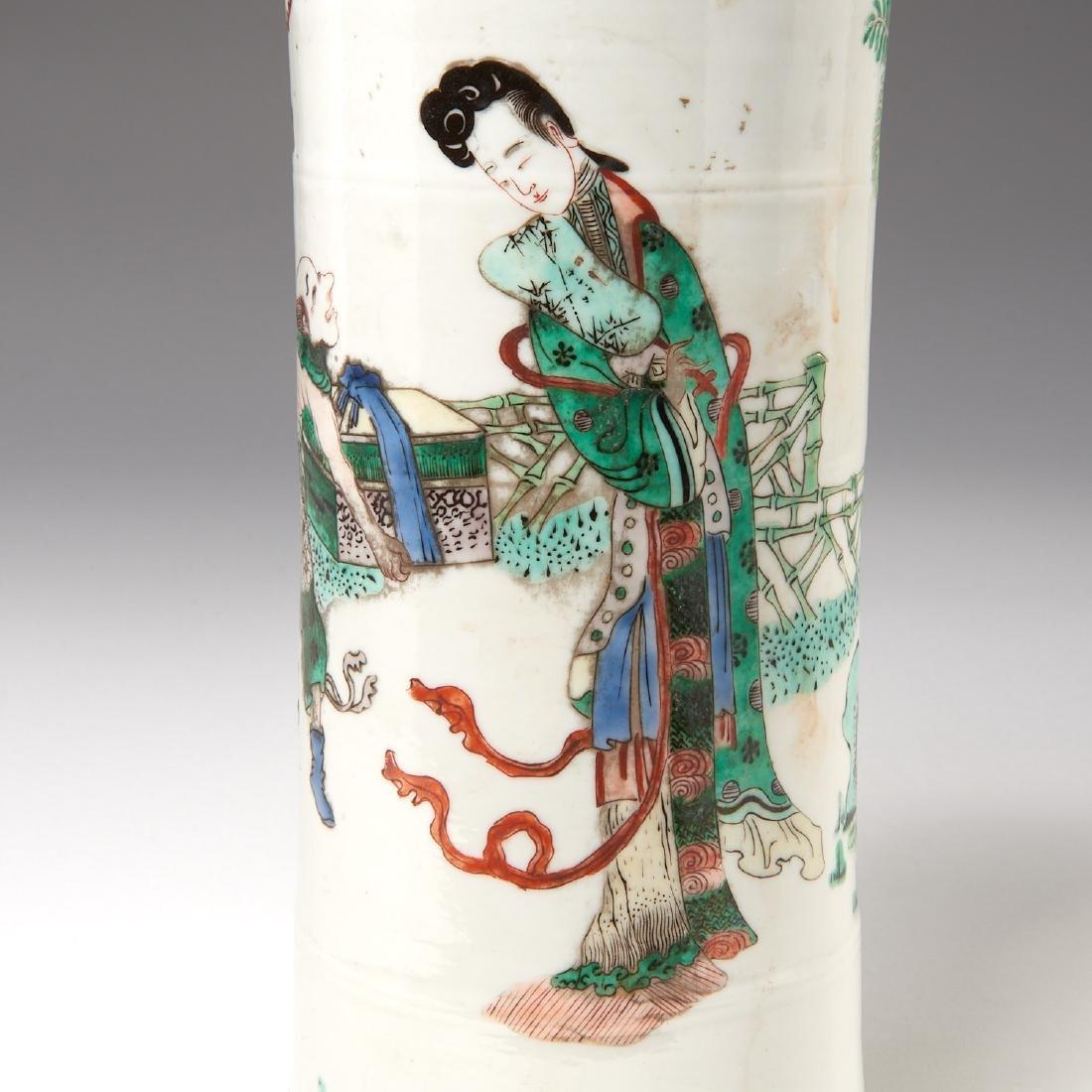 Chinese famille rose porcelain Gu vase - 5