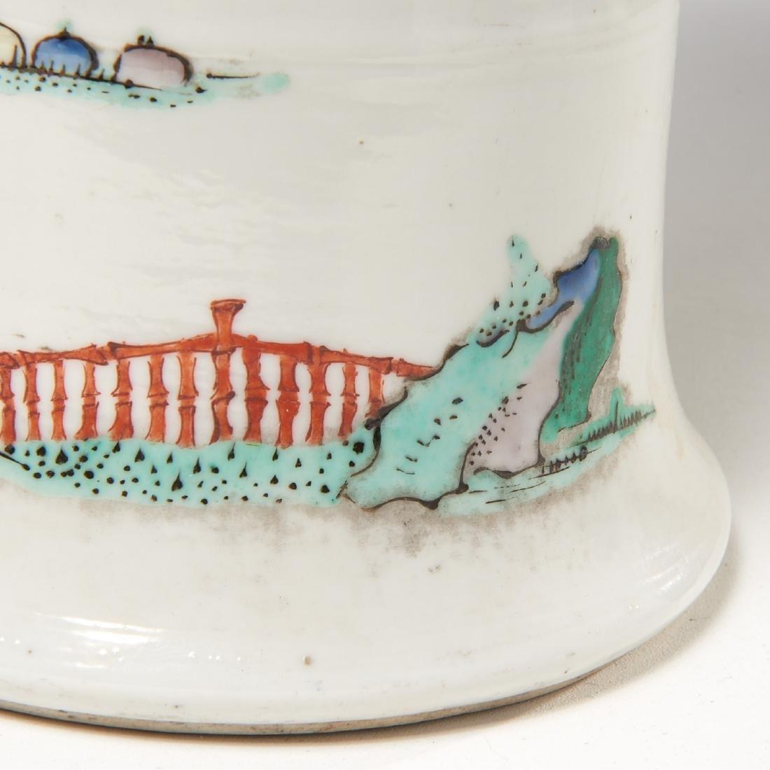 Chinese famille rose porcelain Gu vase - 6