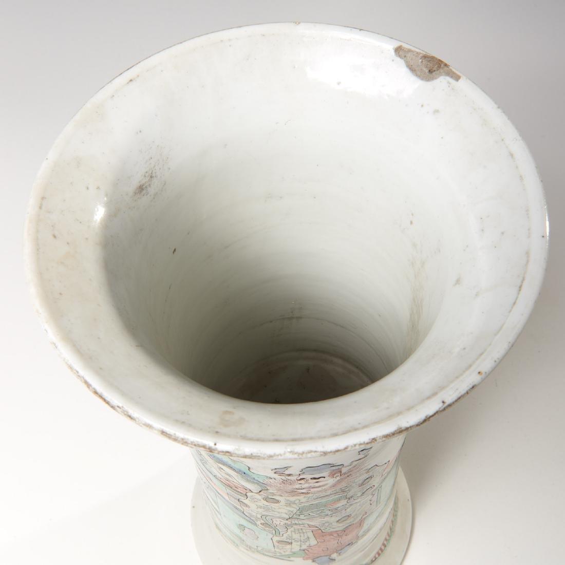 Chinese famille rose porcelain Gu vase - 7