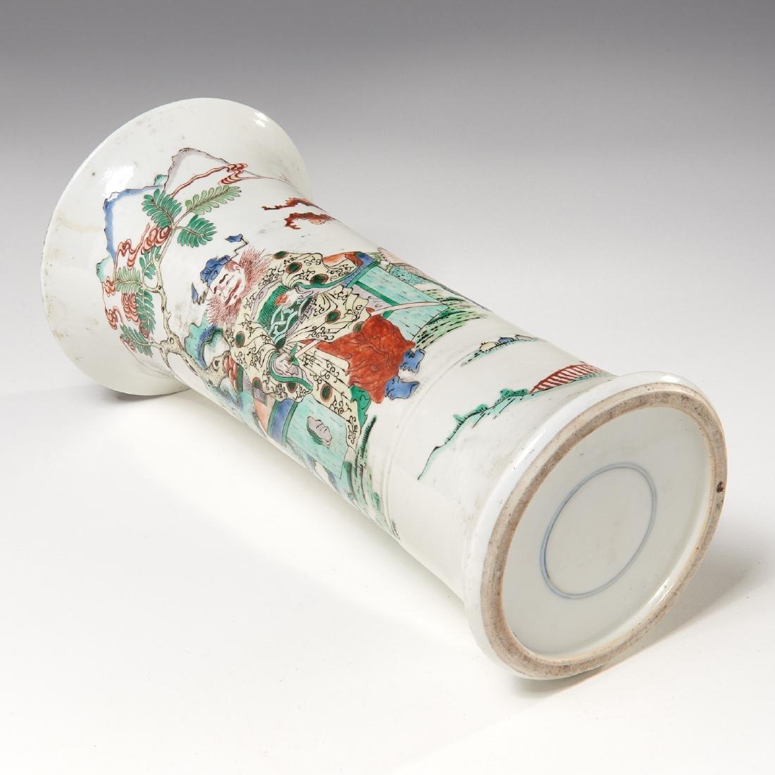 Chinese famille rose porcelain Gu vase - 9