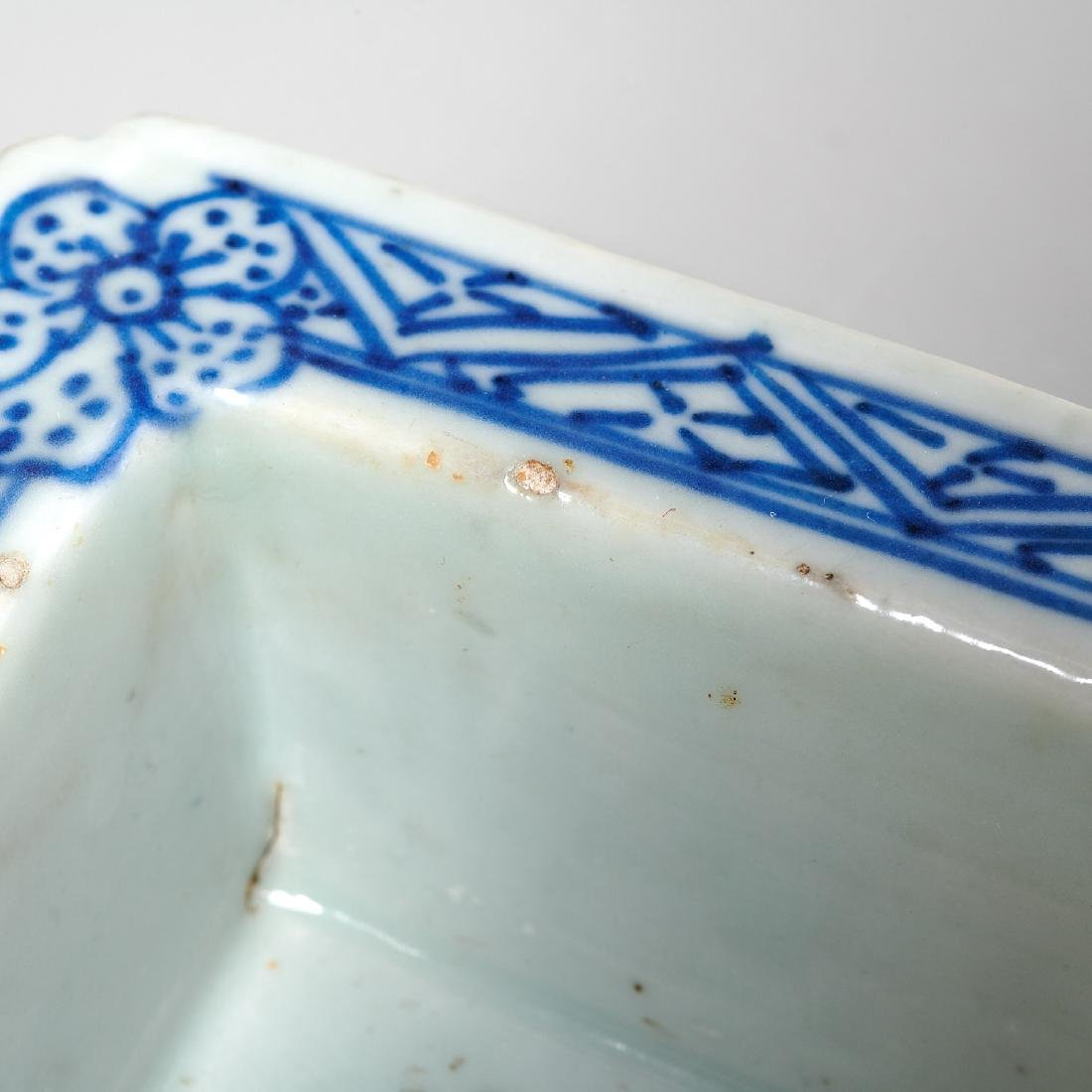 Chinese blue and white reticulated jardiniere - 4