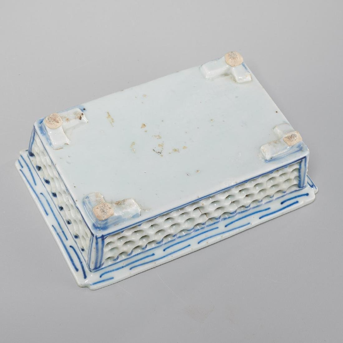 Chinese blue and white reticulated jardiniere - 6