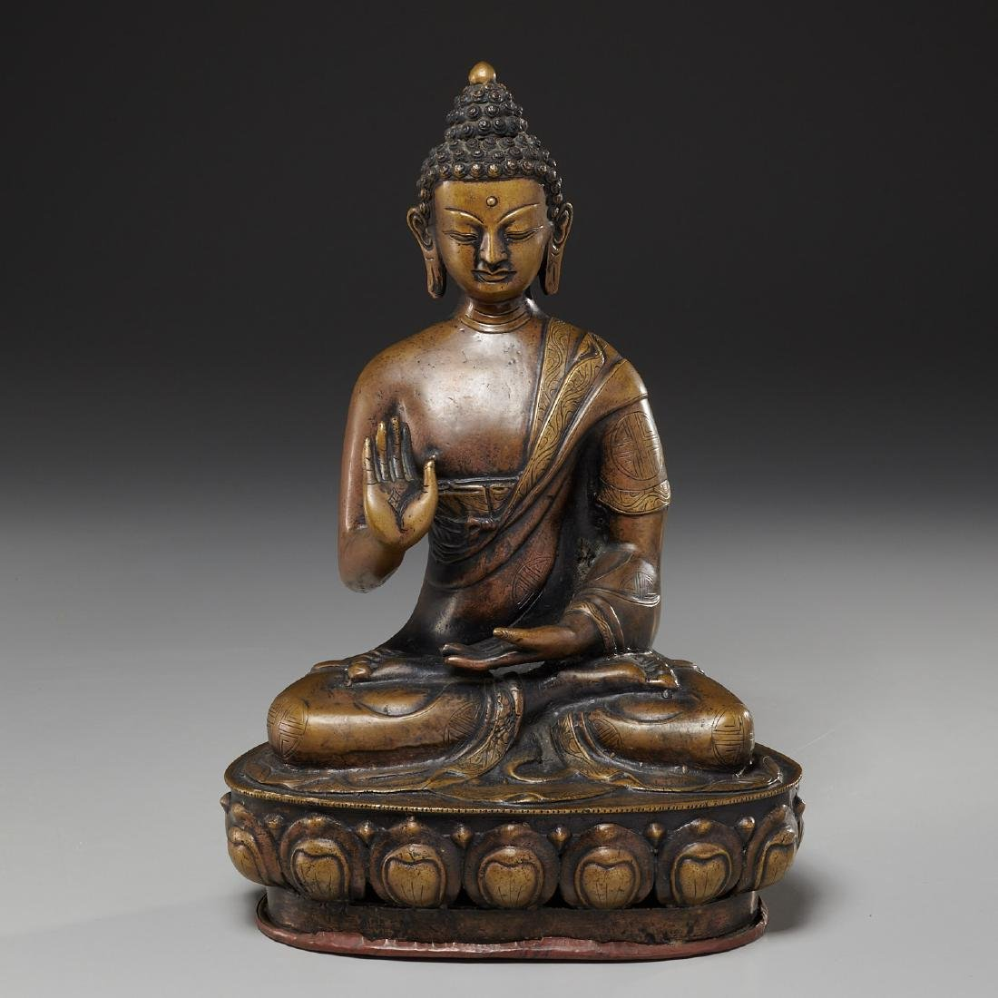 Sino-Tibetan bronze Buddha Sakyamuni