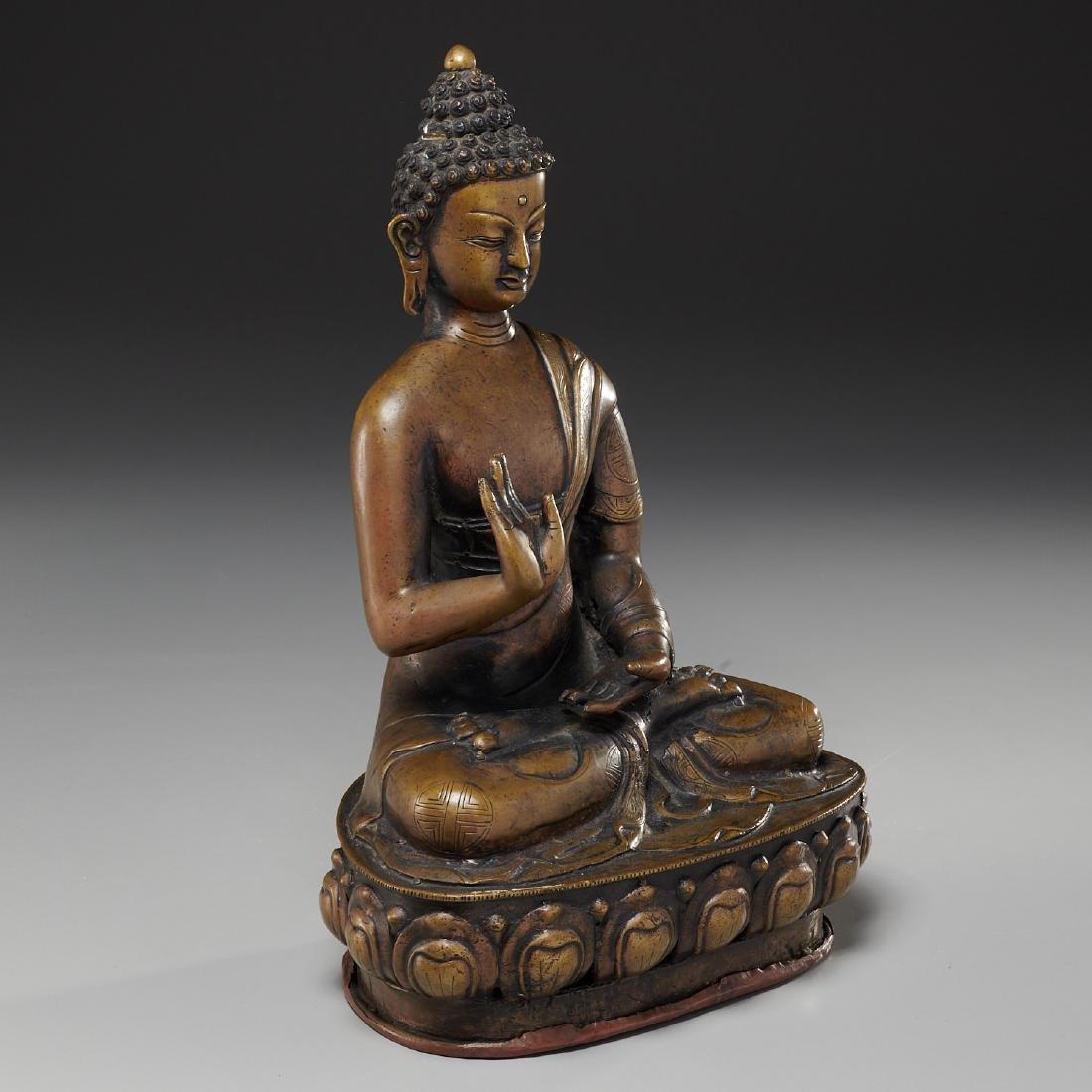 Sino-Tibetan bronze Buddha Sakyamuni - 2