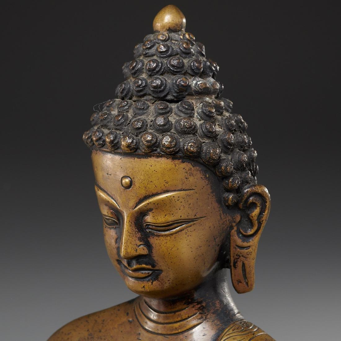Sino-Tibetan bronze Buddha Sakyamuni - 3