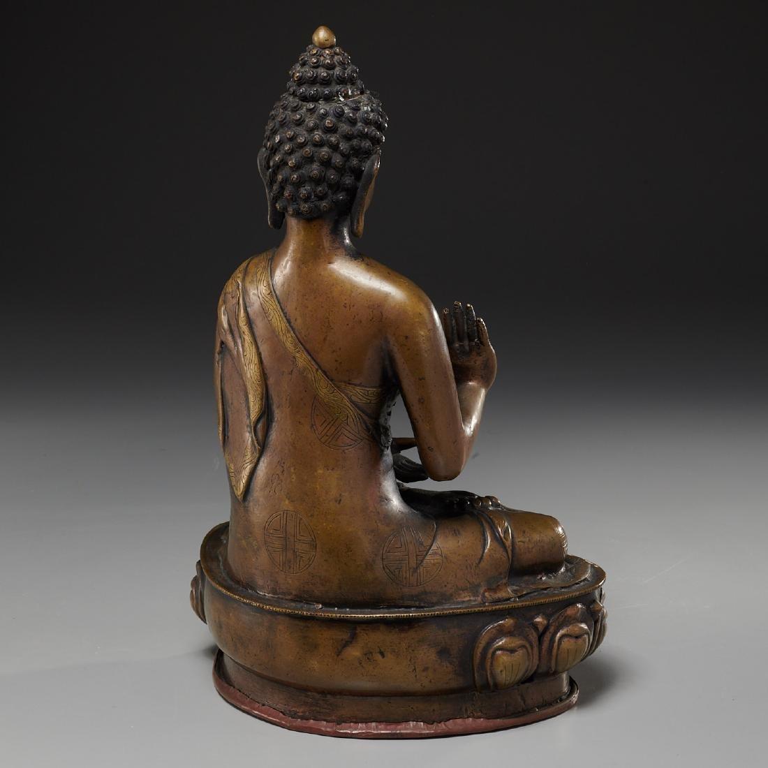 Sino-Tibetan bronze Buddha Sakyamuni - 6