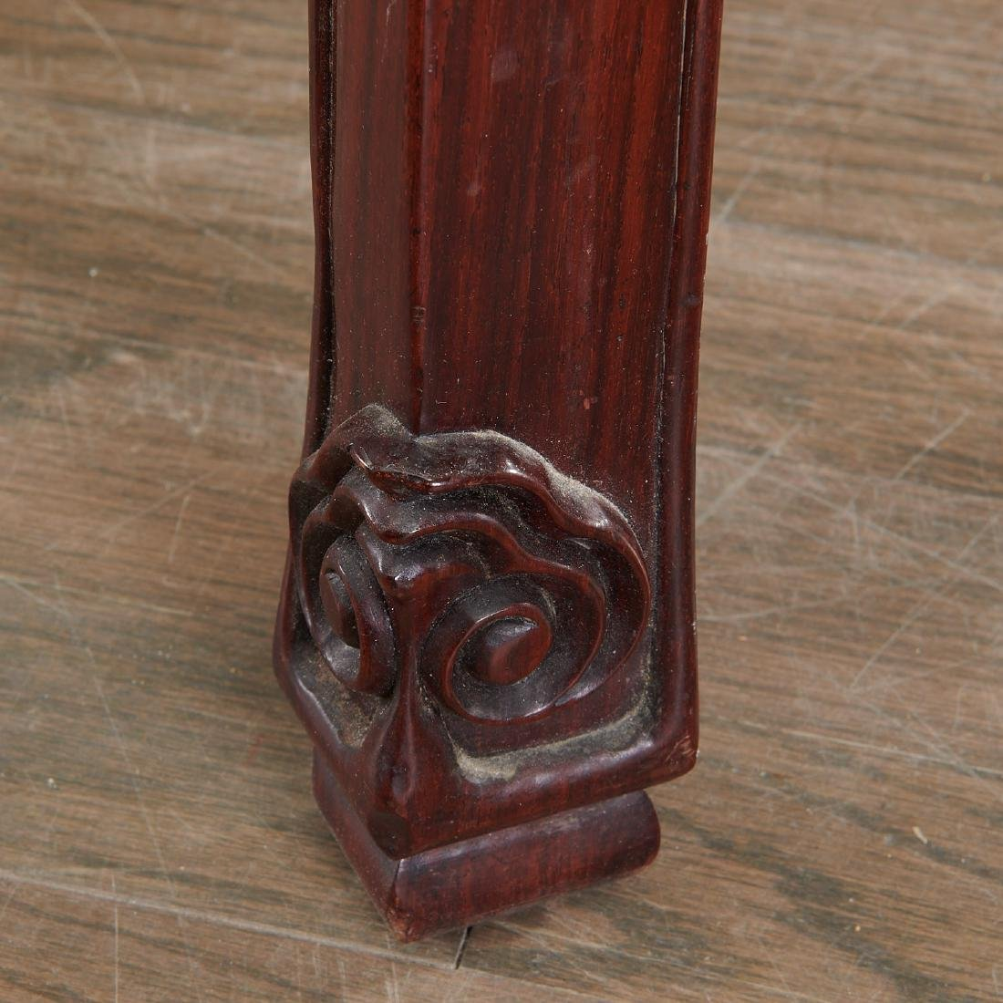 Chinese carved hardwood two-tier stand - 4