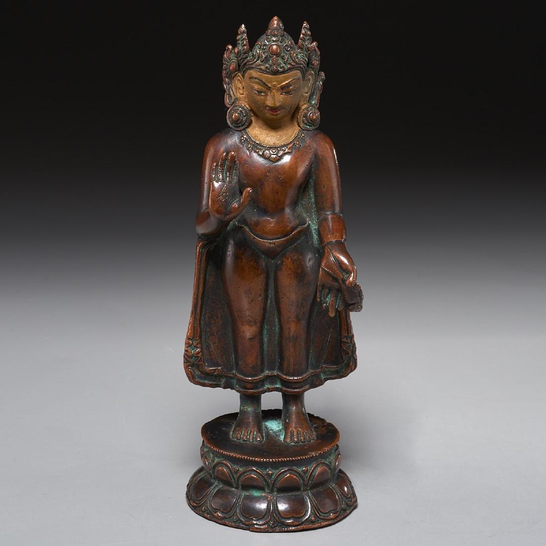 Himalayan figure of standing Tara