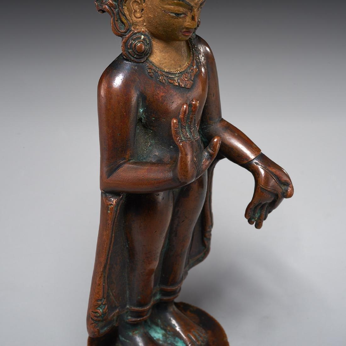 Himalayan figure of standing Tara - 3