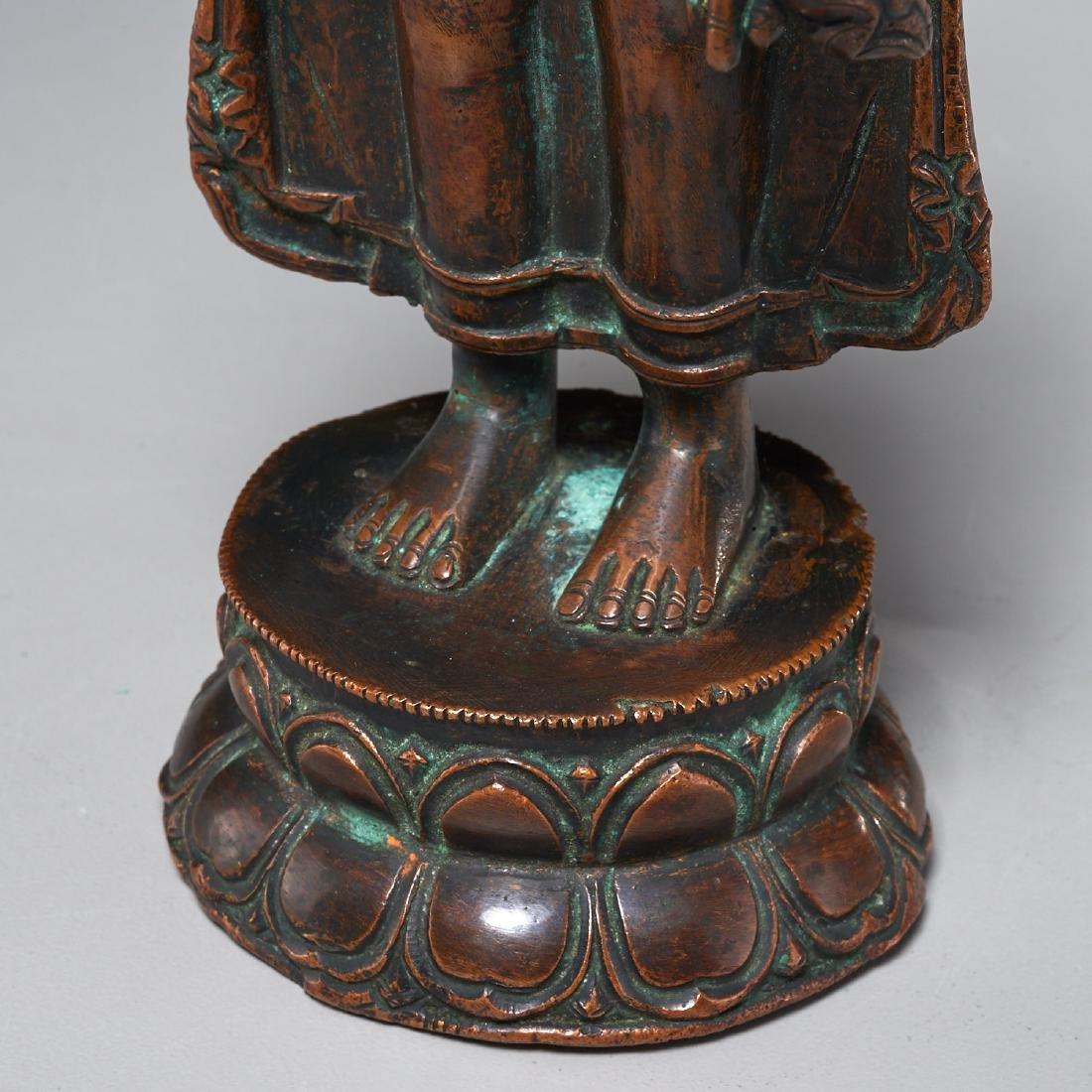 Himalayan figure of standing Tara - 4