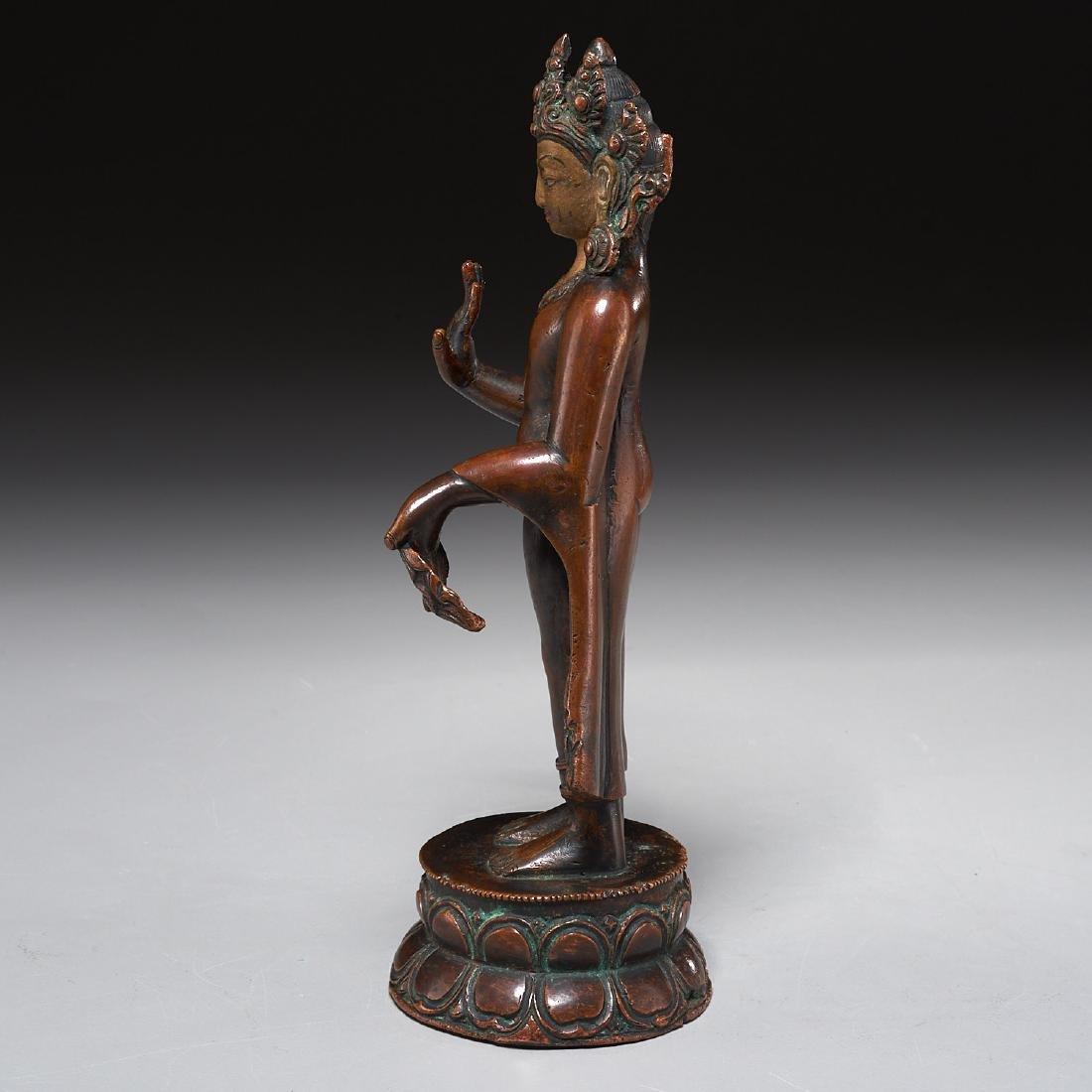 Himalayan figure of standing Tara - 5