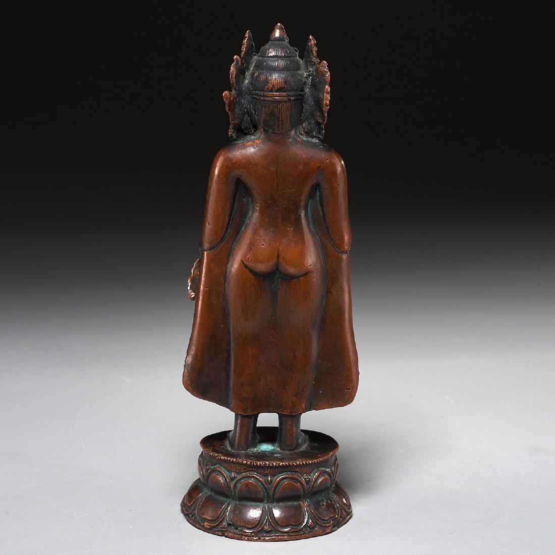 Himalayan figure of standing Tara - 6