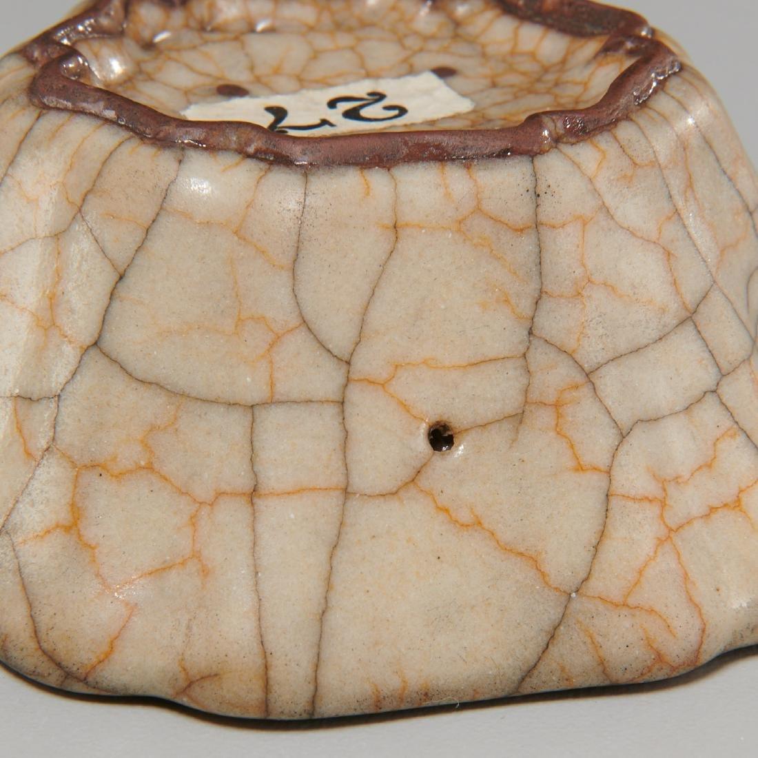Chinese ge glaze foliate form wine cup - 4