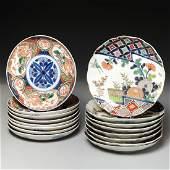 (2) Sets of Japanese Imari plates