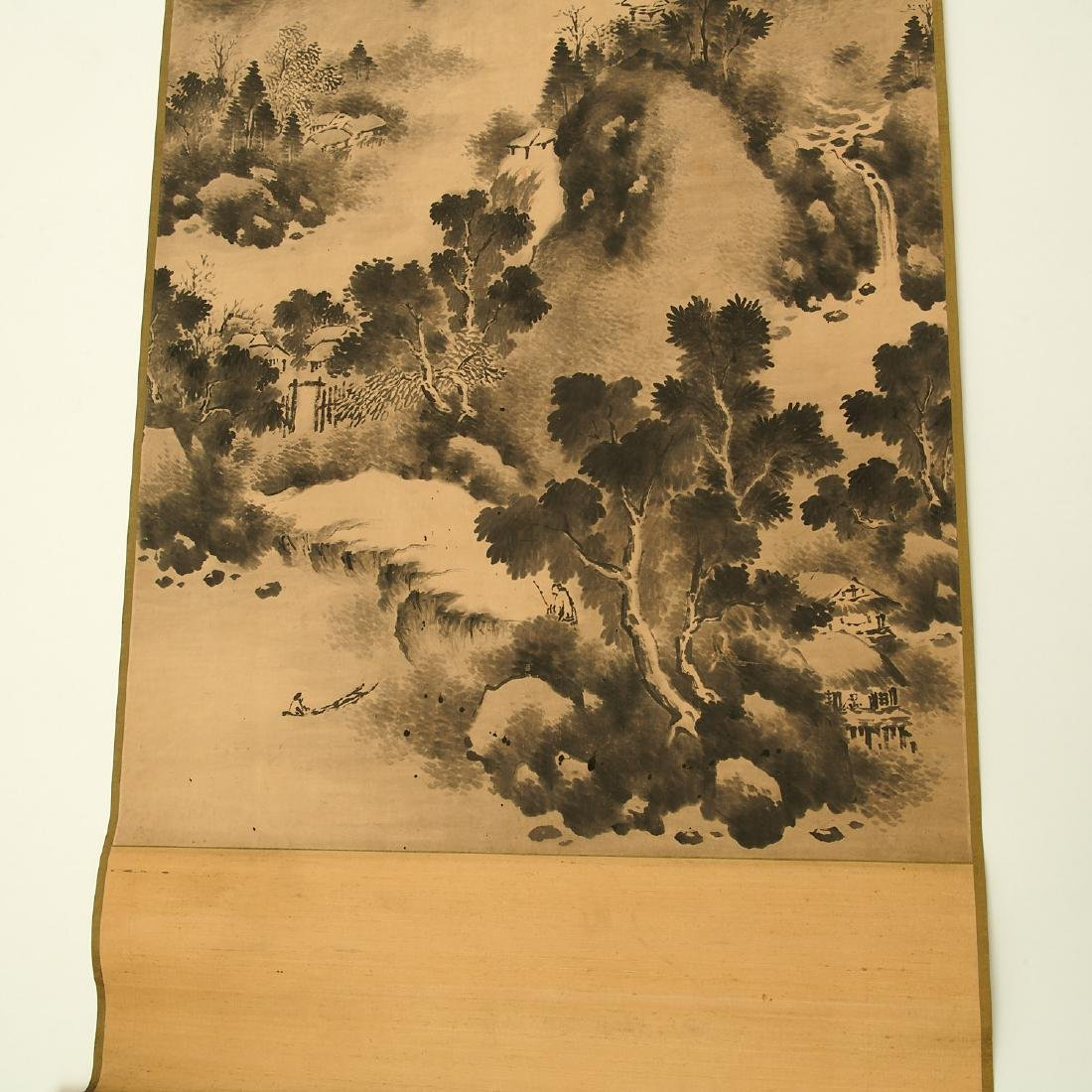 Chinese landscape scroll painting - 4