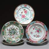 3 Pair Chinese Export porcelain dishes