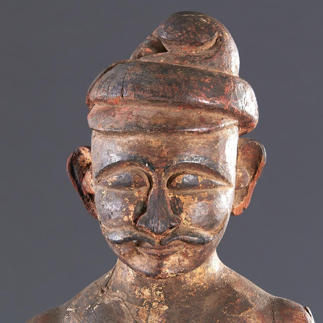Indian carved standing figure - 2