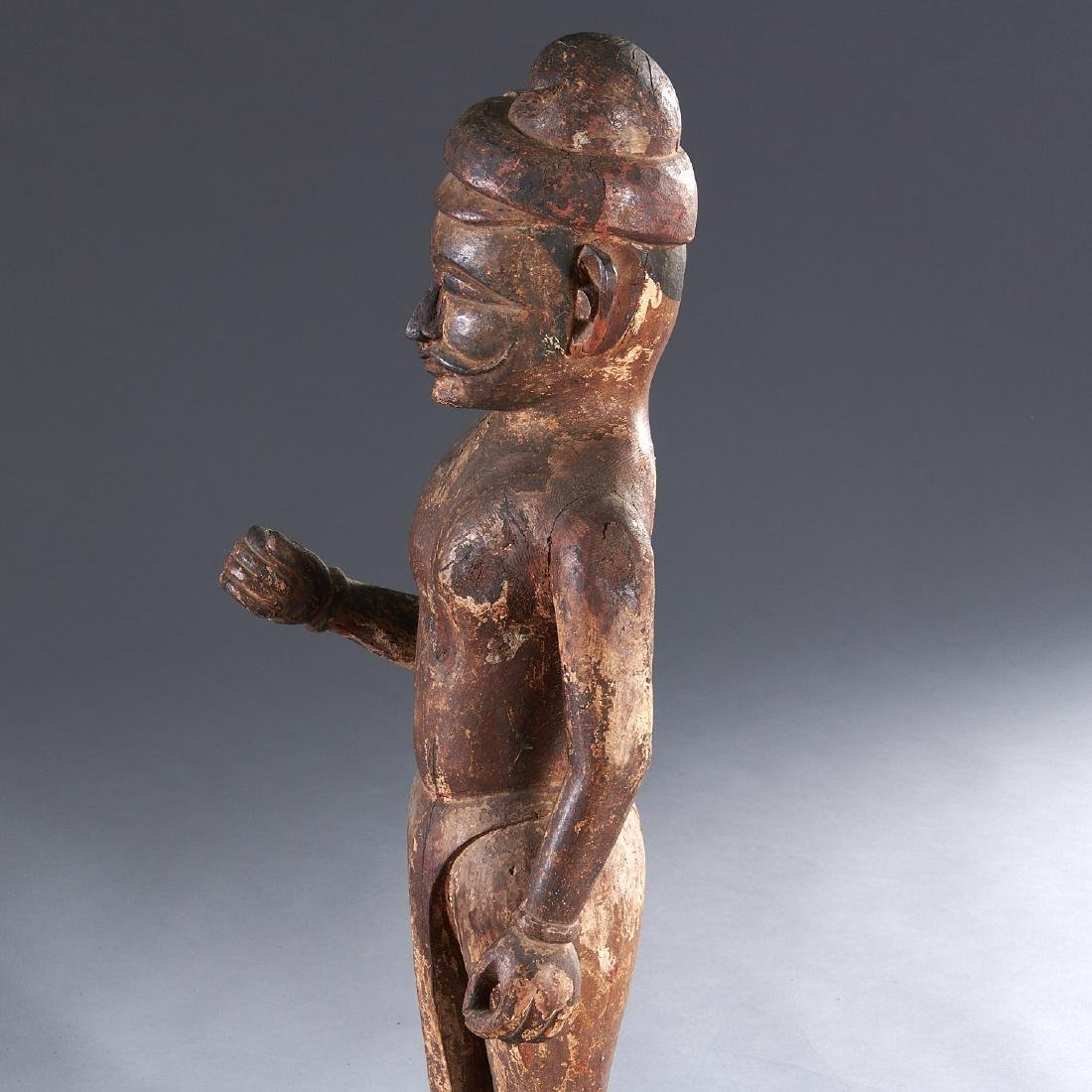 Indian carved standing figure - 3
