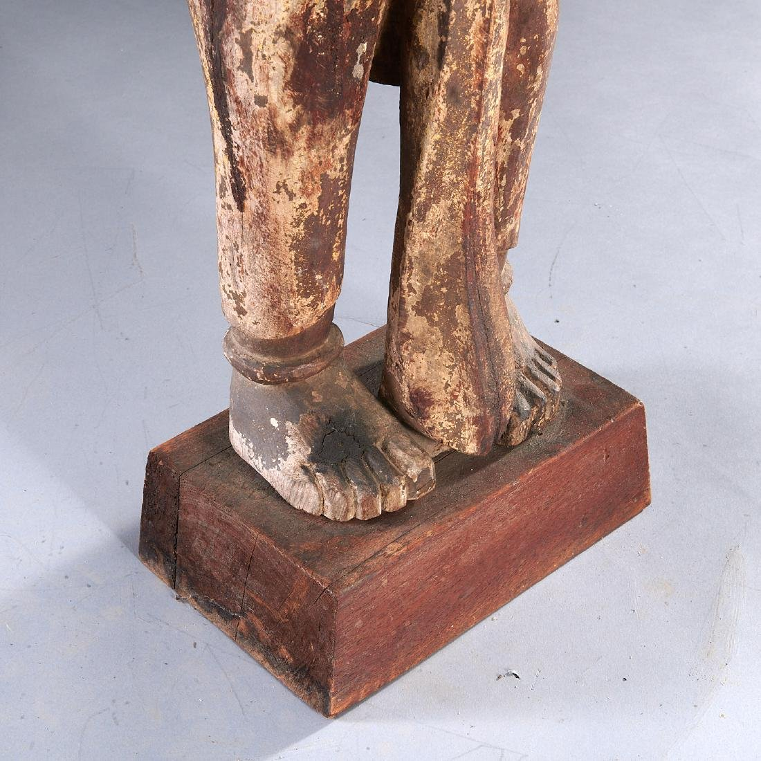 Indian carved standing figure - 4