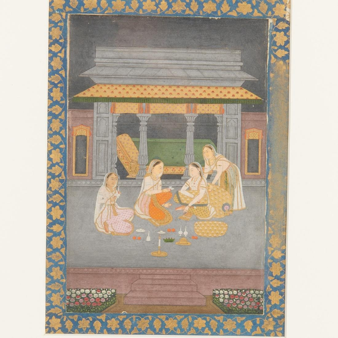 Mughal School, (3) paintings - 2