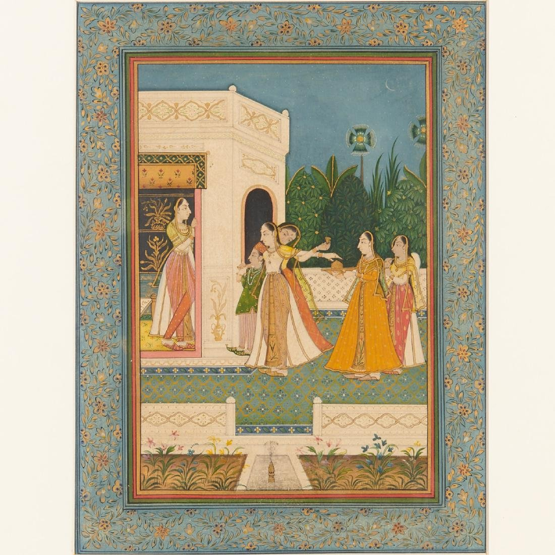 Mughal School, (3) paintings - 4