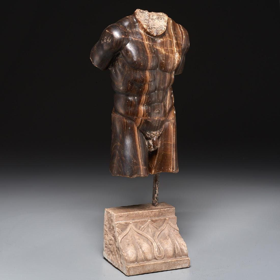 Greco-Roman style stone torso fragment