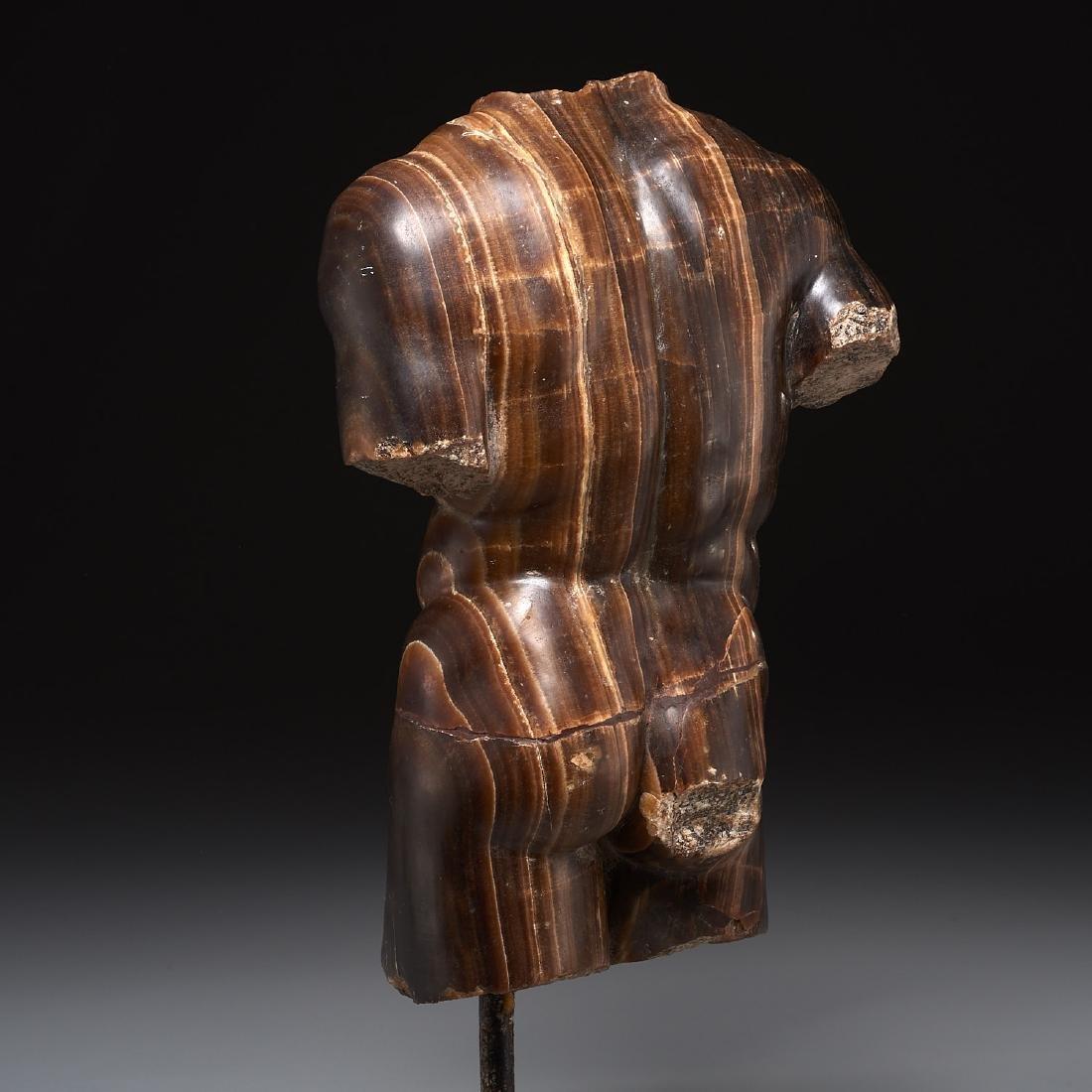 Greco-Roman style stone torso fragment - 4