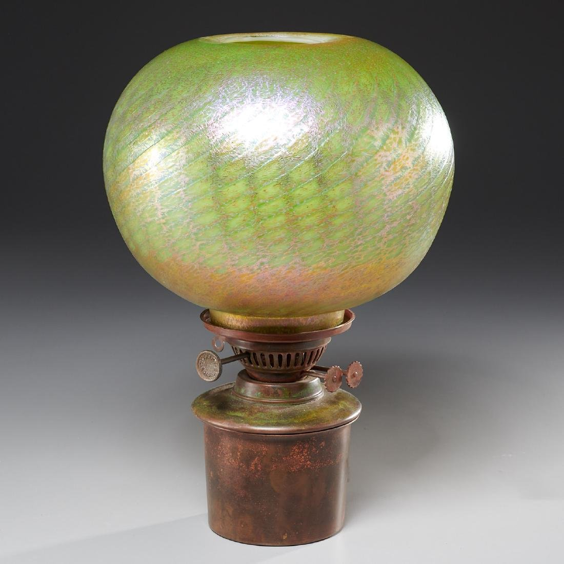 Louis Comfort Tiffany Lamp Insert And Globe Shade