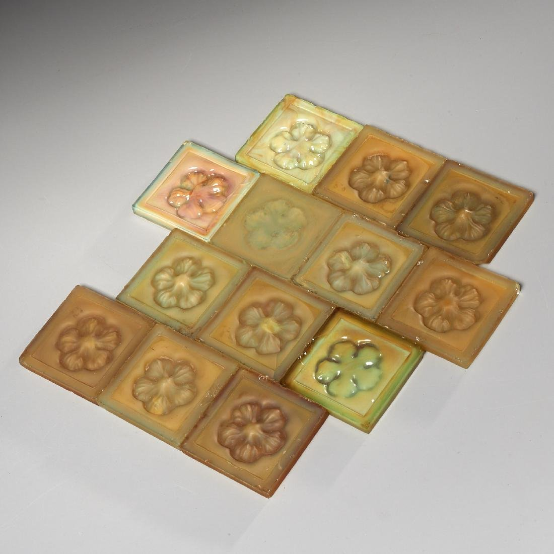 (13) Tiffany Glass & Decorating Co. tiles