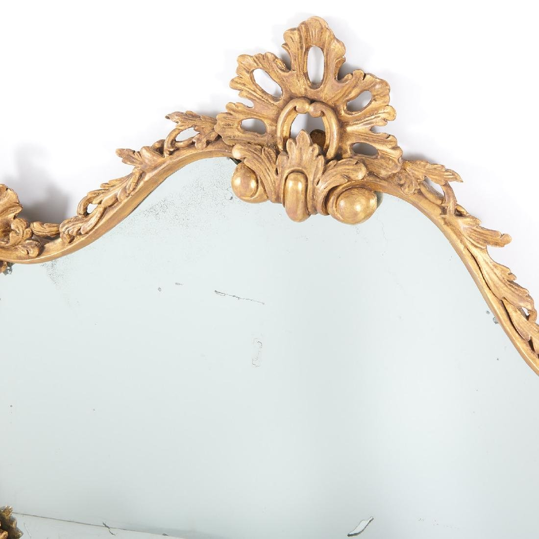 George III carved giltwood over-mantel mirror - 2