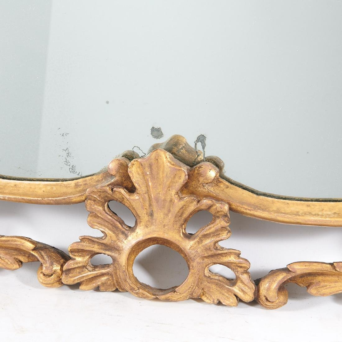 George III carved giltwood over-mantel mirror - 5