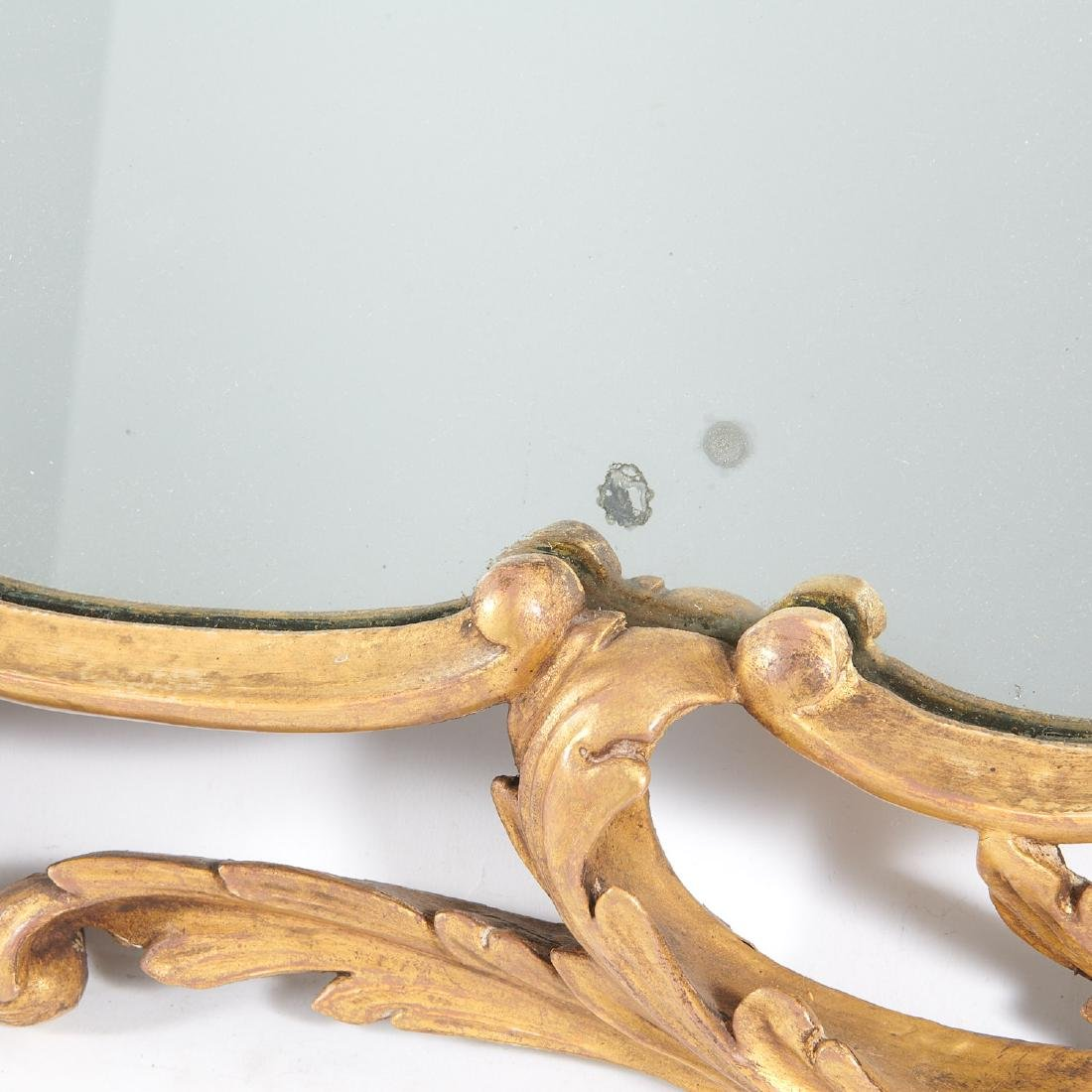George III carved giltwood over-mantel mirror - 6
