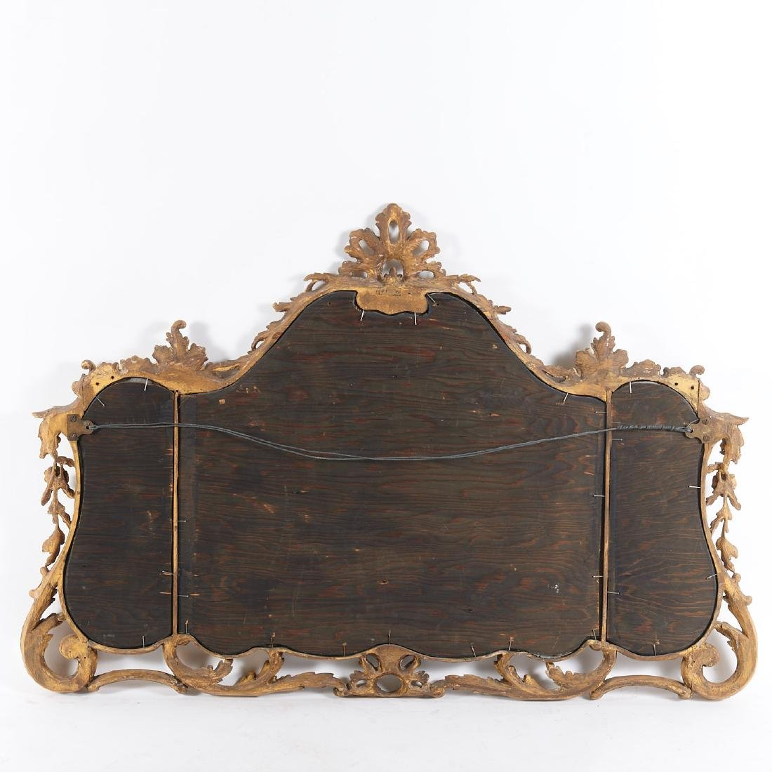 George III carved giltwood over-mantel mirror - 7