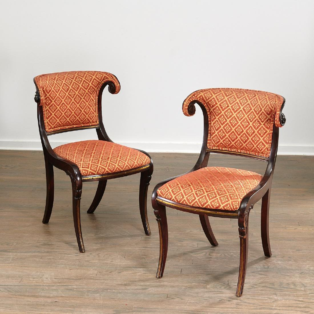 Set (6) Regency style Klismos dining chairs - 2