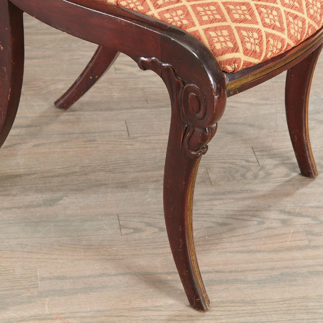 Set (6) Regency style Klismos dining chairs - 4