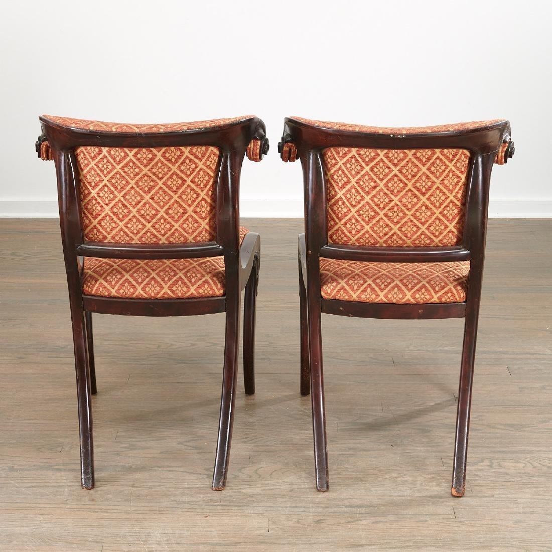 Set (6) Regency style Klismos dining chairs - 7