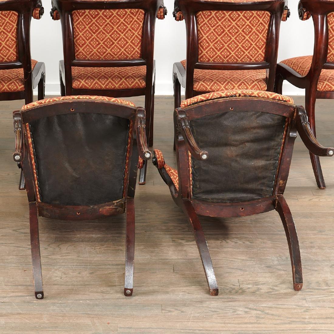 Set (6) Regency style Klismos dining chairs - 8