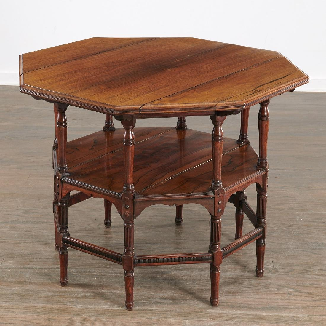 Nice Aesthetic Movement octagonal center table
