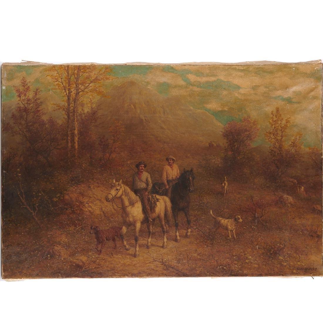 George Riecke, painting