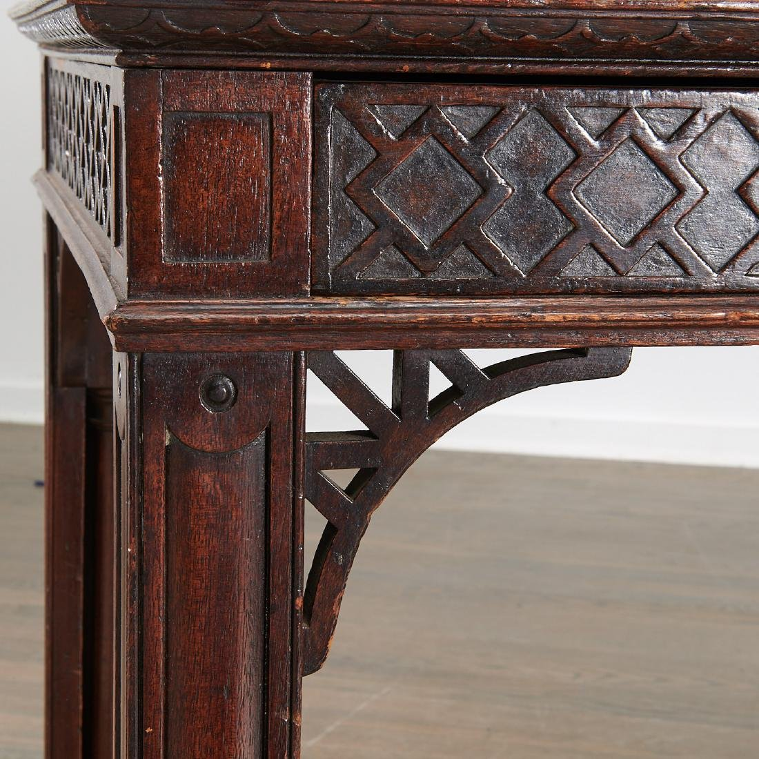 English Chinese Chippendale library table - 2