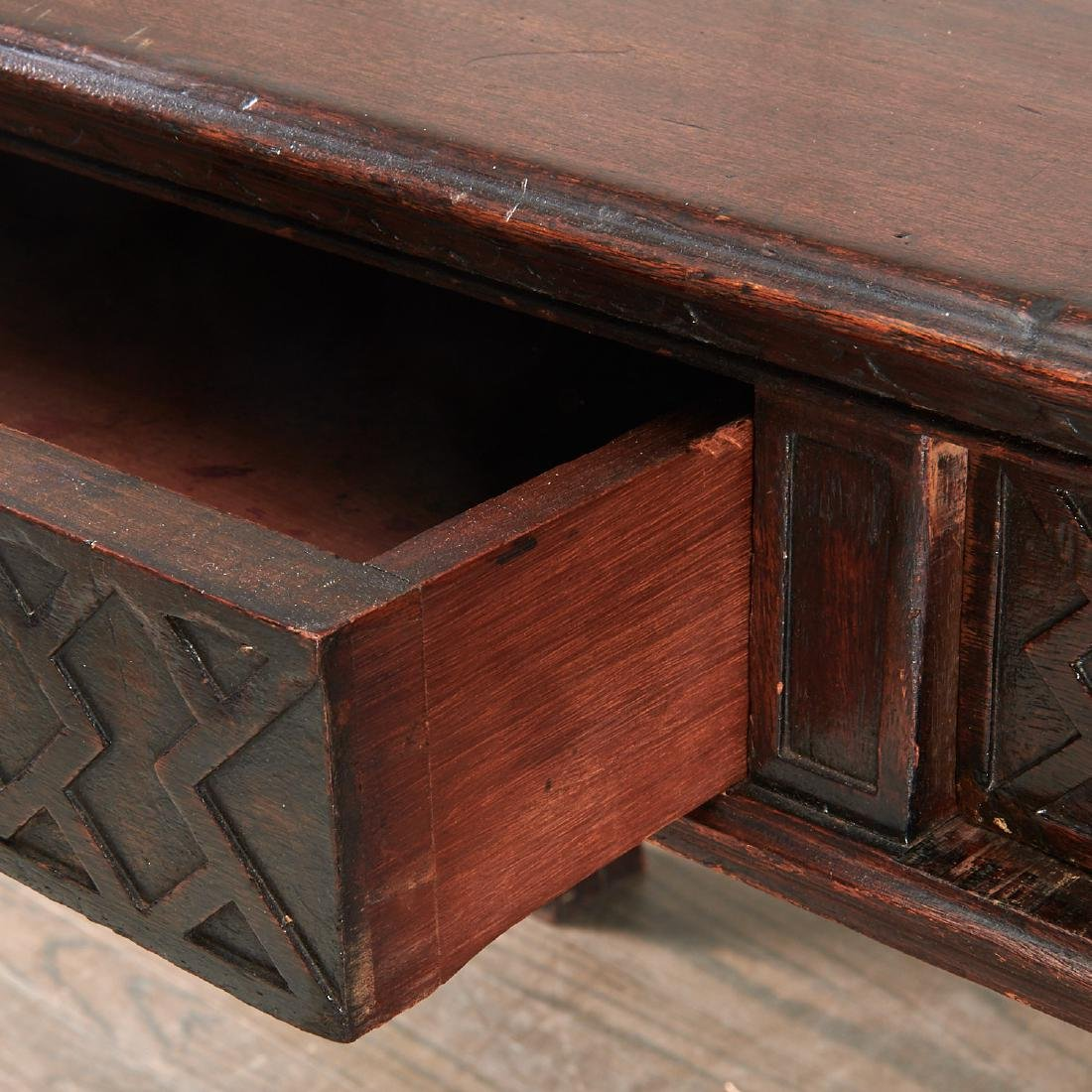 English Chinese Chippendale library table - 4