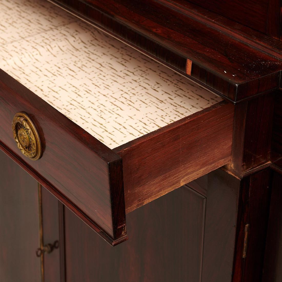 English Regency breakfront bookcase - 3