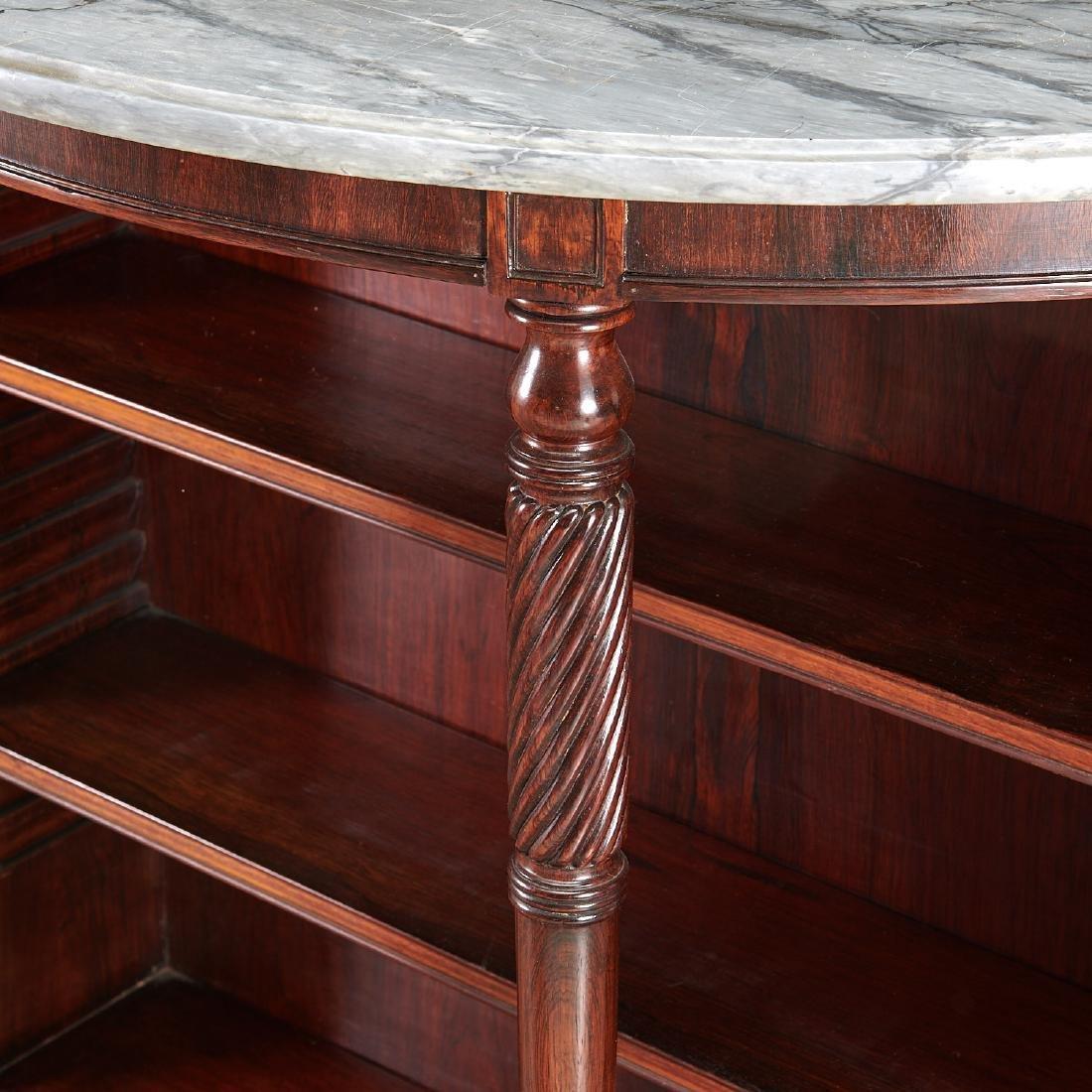 Pair Regency style demilune bookcases - 3