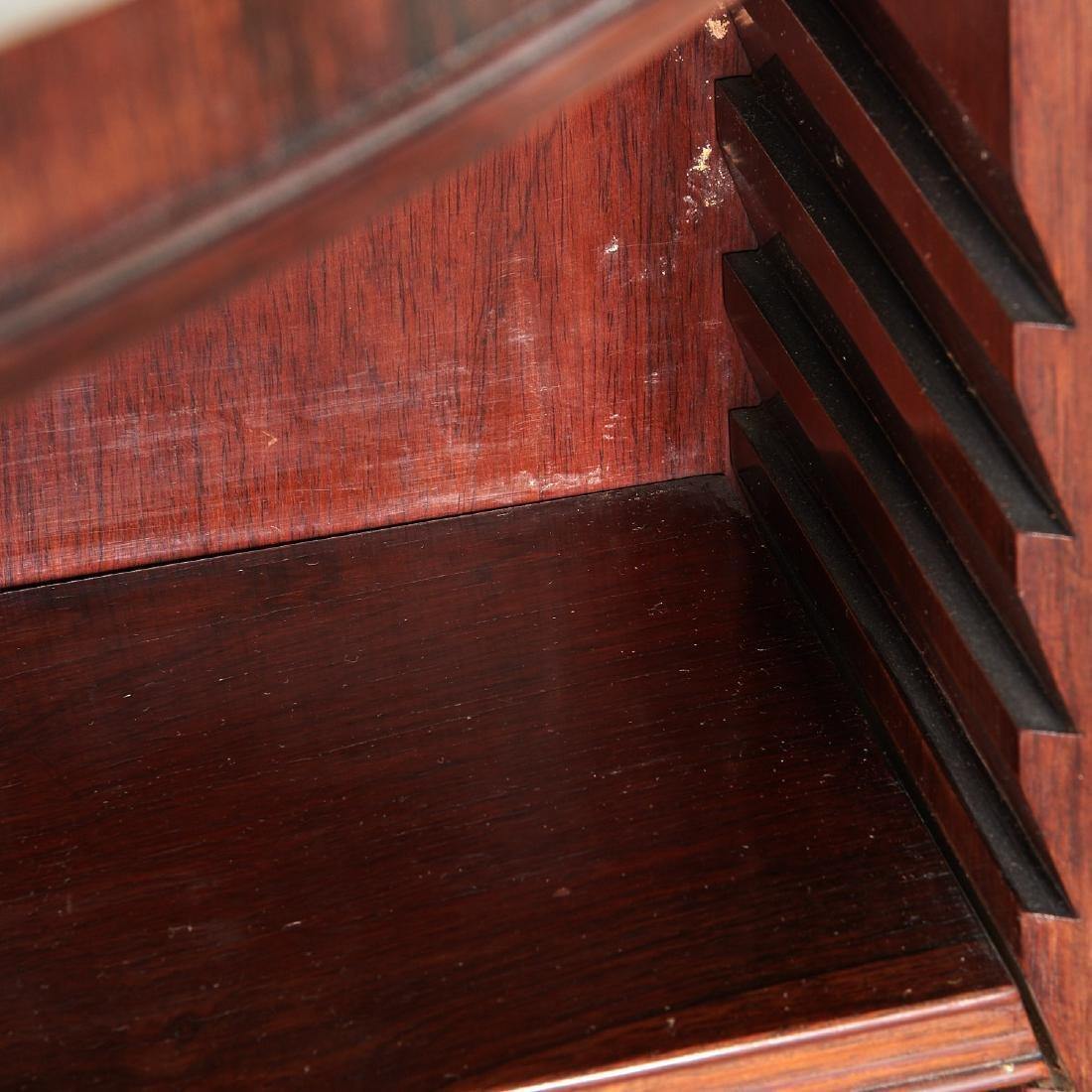 Pair Regency style demilune bookcases - 4