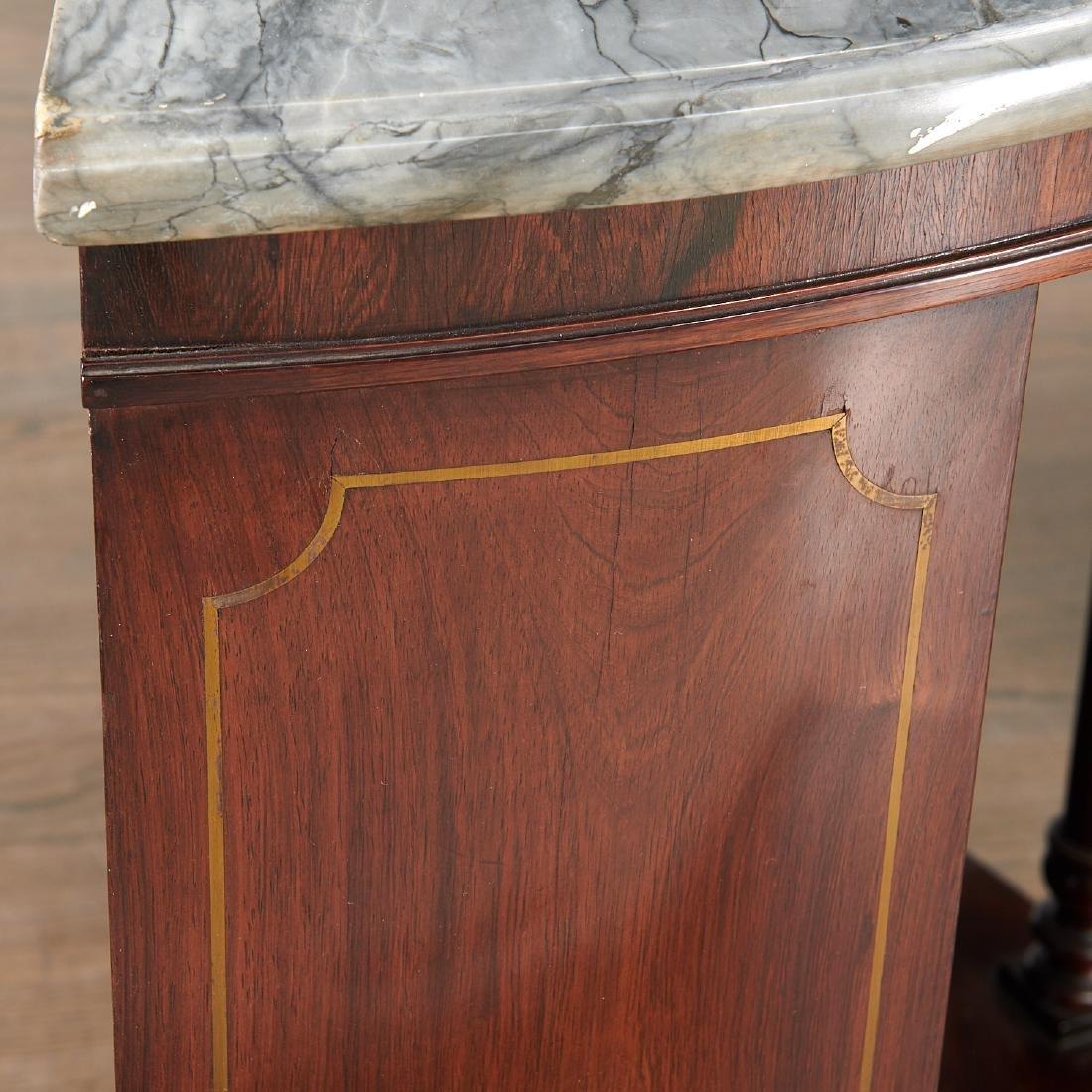 Pair Regency style demilune bookcases - 6