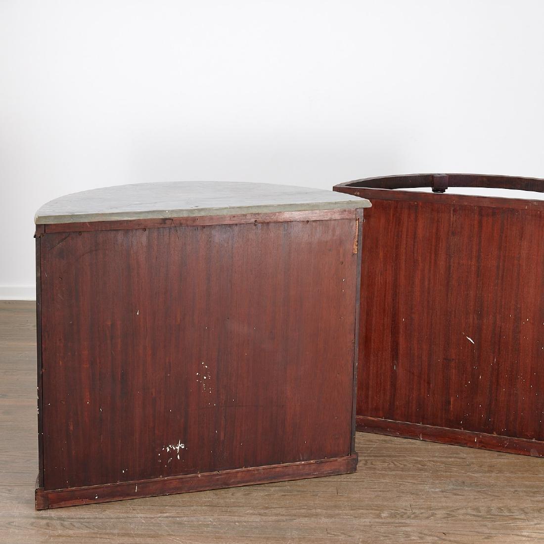 Pair Regency style demilune bookcases - 8