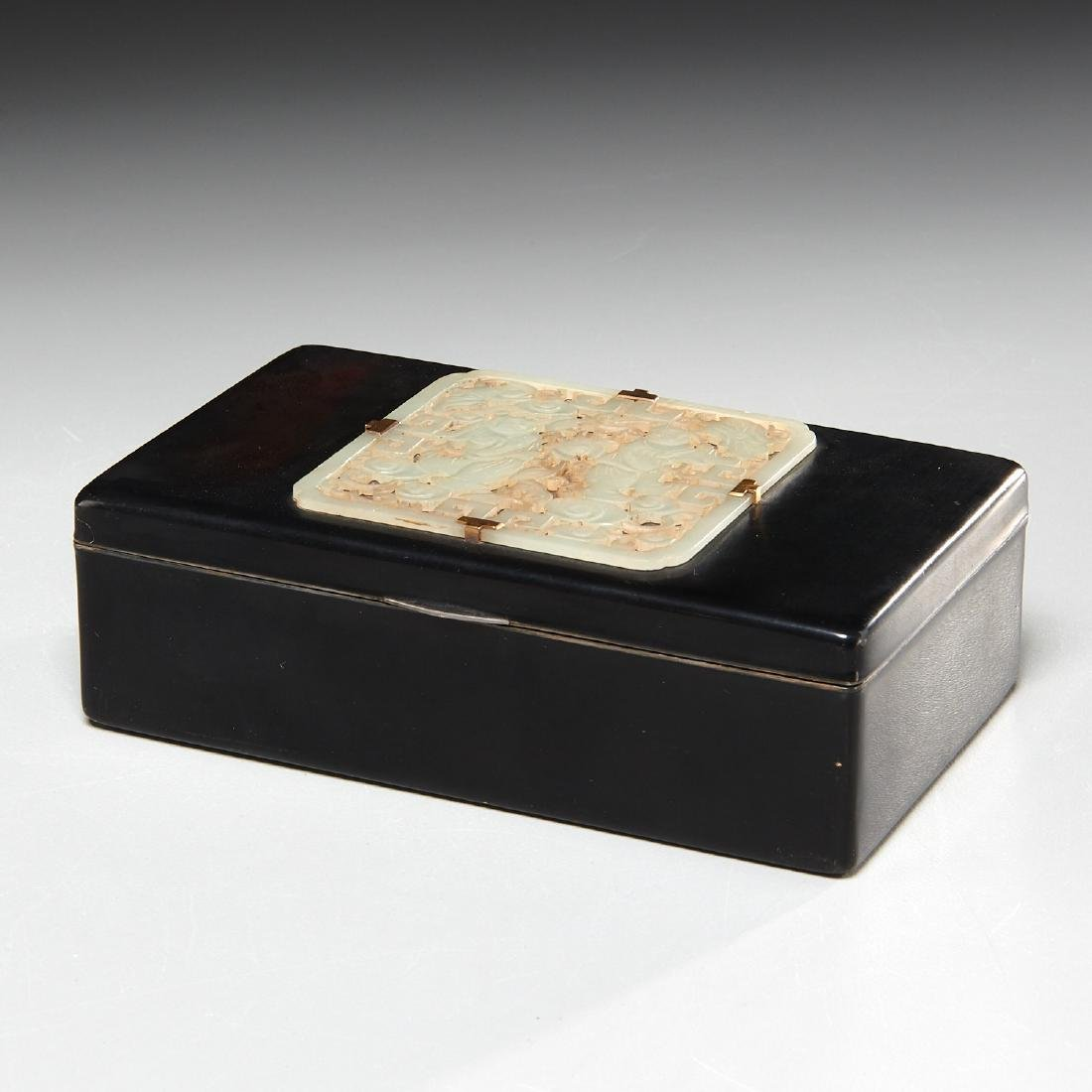 Art Deco jade mounted cigarette box by Cartier