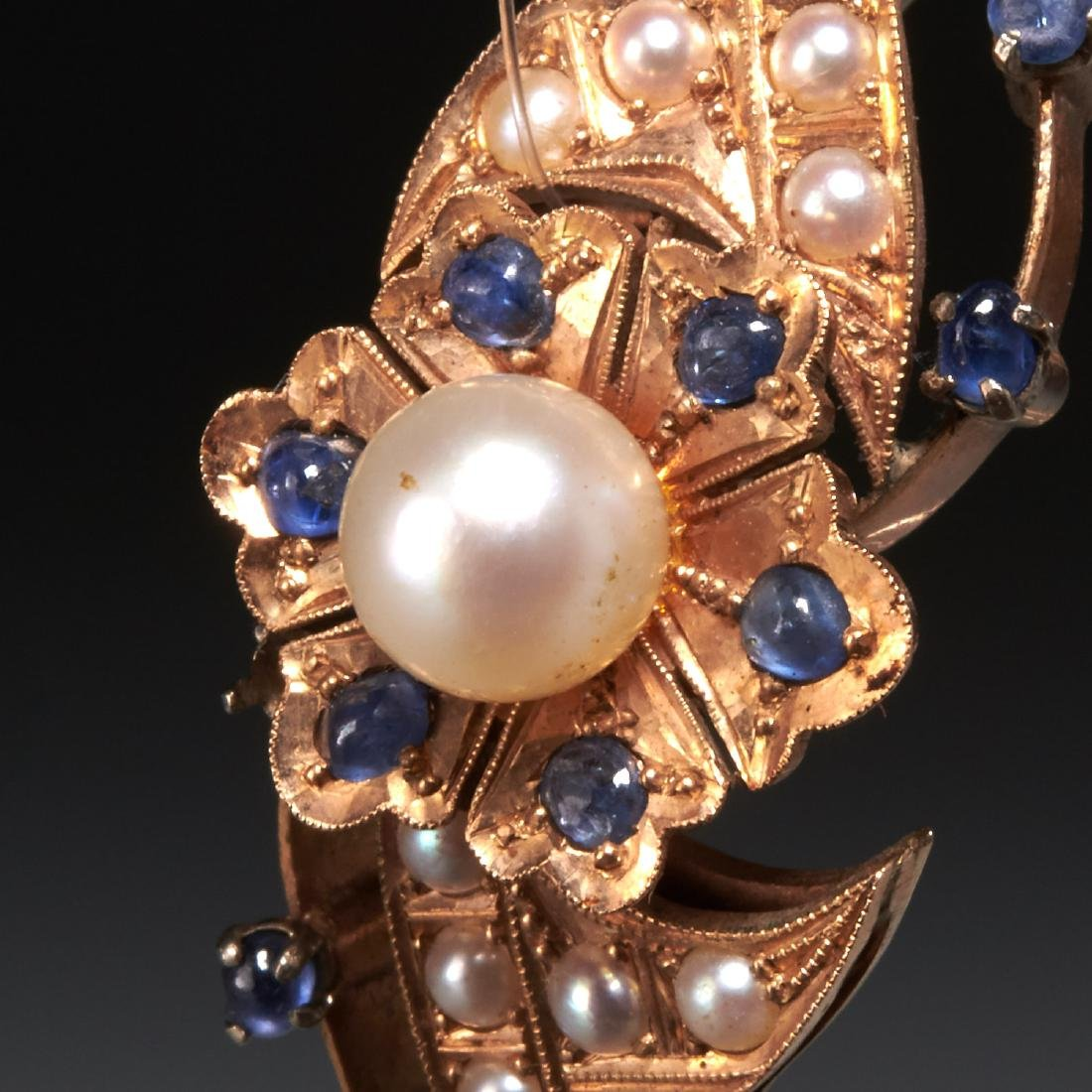 Victorian style 14k gold bracelet with pearls - 2